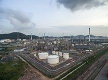 Διυλιστήριο πετρελαίου, λιμένας πετρελαίου, σκάφος πετρελαιοφόρων Στοκ Εικόνα