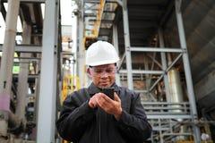 Διυλιστήριο πετρελαίου μηχανικών Στοκ εικόνα με δικαίωμα ελεύθερης χρήσης