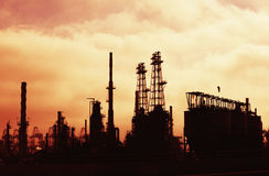 Διυλιστήριο πετρελαίου στοκ φωτογραφία