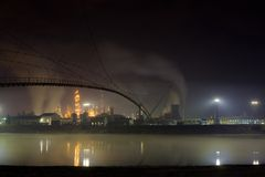 διυλιστήριο πετρελαίου στοκ εικόνες