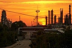 Διυλιστήριο πετρελαίου Στοκ Εικόνα