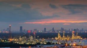 Διυλιστήριο πετρελαίου πετρελαίου ` s Bangchak, περιοχή Phra Khanong, Bangko Στοκ φωτογραφία με δικαίωμα ελεύθερης χρήσης
