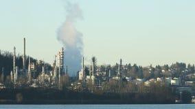 Διυλιστήριο πετρελαίου, κολπίσκος Burrard απόθεμα βίντεο