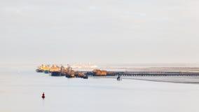 Διυλιστήριο πετρελαίου Fawley Στοκ Εικόνες