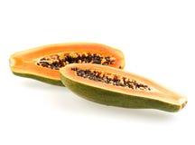 Διχοτομημένο papaya στοκ εικόνα
