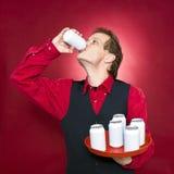 διψασμένος σερβιτόρος Στοκ φωτογραφία με δικαίωμα ελεύθερης χρήσης