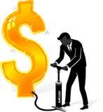 Διόγκωση του αμερικανικού δολαρίου ελεύθερη απεικόνιση δικαιώματος