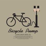 Διόγκωση του ελαστικού αυτοκινήτου του ποδηλάτου. ελεύθερη απεικόνιση δικαιώματος