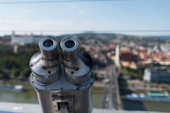 Διόπτρες που τοποθετούνται σε μια άποψη στη Μπρατισλάβα στοκ φωτογραφία με δικαίωμα ελεύθερης χρήσης
