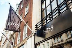 Διδάσκει το κατάστημα της Hugo Boss Στοκ Εικόνες