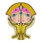Διδυμοι - διακοσμητικό zodiac σημάδι Στοκ εικόνα με δικαίωμα ελεύθερης χρήσης