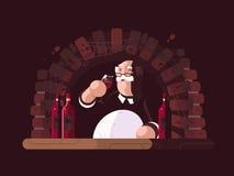 Δοκιμάζοντας κρασί Sommelier ελεύθερη απεικόνιση δικαιώματος