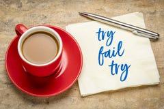 Δοκιμάστε, αποτύχετε και επαναλάβετε την έννοια στοκ φωτογραφίες με δικαίωμα ελεύθερης χρήσης