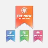 Δοκιμάστε τα κουμπιά καθορισμένα Στοκ εικόνα με δικαίωμα ελεύθερης χρήσης