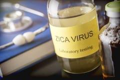 Δοκιμές για την έρευνα της δοκιμής ZIKA Στοκ φωτογραφία με δικαίωμα ελεύθερης χρήσης