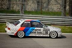 Δοκιμή αυτοκινήτων της BMW μ3 E30 DTM σε Monza στοκ φωτογραφίες με δικαίωμα ελεύθερης χρήσης