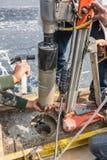Δοκιμή για τη συμπίεση που χρησιμοποιεί την εκπυρήνωση Στοκ Εικόνες