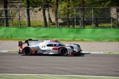Δοκιμή 2015 ε-Tron Quattro LMP1 Monza Audi R18 Στοκ Εικόνες