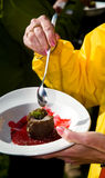 δοκιμή κέικ Στοκ φωτογραφία με δικαίωμα ελεύθερης χρήσης