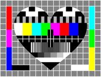 δοκιμή οθόνης αγάπης Στοκ φωτογραφίες με δικαίωμα ελεύθερης χρήσης