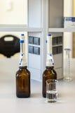 Δοκιμή-σωλήνες, χημικό εργαστήριο Στοκ φωτογραφία με δικαίωμα ελεύθερης χρήσης