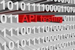 Δοκιμή API Στοκ Εικόνες