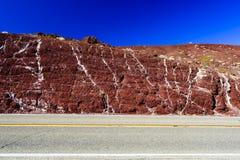 Δοκιμή Nadeau, εθνική οδός 190, εθνικό πάρκο Valles θανάτου Στοκ Εικόνα