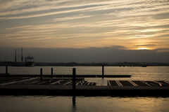 Δοκιμή Southampton ποταμών στο ηλιοβασίλεμα Στοκ φωτογραφία με δικαίωμα ελεύθερης χρήσης