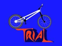 Δοκιμαστικό ποδήλατο διανυσματική απεικόνιση