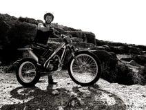 Δοκιμαστικό ποδήλατο motorcross σε Σαραγόσα Στοκ φωτογραφία με δικαίωμα ελεύθερης χρήσης