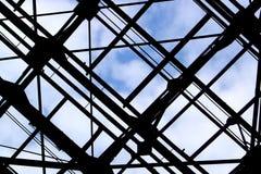 δοκοί στέγης μετάλλων Στοκ φωτογραφία με δικαίωμα ελεύθερης χρήσης