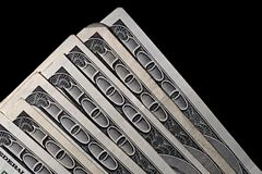 δολάρια εκατό ένα Στοκ φωτογραφία με δικαίωμα ελεύθερης χρήσης