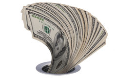 δολάρια κάτω από τη μετάβασ&e Στοκ εικόνες με δικαίωμα ελεύθερης χρήσης