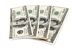 Δολάρια που απομονώνονται Στοκ Φωτογραφία