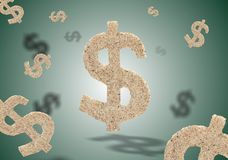 δολάρια πράσινα Στοκ εικόνες με δικαίωμα ελεύθερης χρήσης
