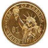 δολάριο ένα νομισμάτων εμ&epsil Στοκ Εικόνες
