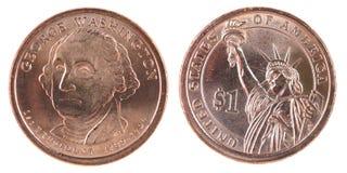 δολάριο ένα νομισμάτων εμ&epsil Στοκ Εικόνα