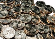 δολάριο ένα νομισμάτων σωρ Στοκ Εικόνες