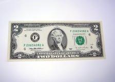 δολάριο δύο λογαριασμών Στοκ φωτογραφίες με δικαίωμα ελεύθερης χρήσης