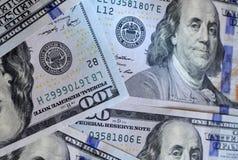 δολάριο εκατό ένα λογαριασμών ανασκόπησης εμείς Αμερικανικό εκατό σχέδιο σημειώσεων σύστασης χρημάτων έννοια οικονομική στοκ φωτογραφίες με δικαίωμα ελεύθερης χρήσης