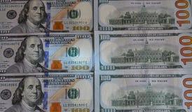 δολάριο εκατό ένα λογαριασμών ανασκόπησης εμείς Αμερικανικό εκατό σχέδιο σημειώσεων σύστασης χρημάτων στοκ εικόνες με δικαίωμα ελεύθερης χρήσης