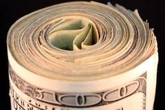 δολάριο εκατό ένα νομίσματος λογαριασμών εμείς Στοκ φωτογραφία με δικαίωμα ελεύθερης χρήσης