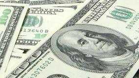 δολάριο εκατό λογαριασμών ένα τραπεζογραμμάτια 100 αμερικανικά δολάρια φιλμ μικρού μήκους
