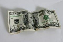 δολάριο εκατό λογαριασμών ένα στοκ φωτογραφία με δικαίωμα ελεύθερης χρήσης