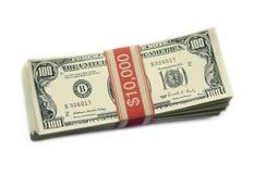 δολάριο εκατό λογαριασμών ένα Στοκ Εικόνα