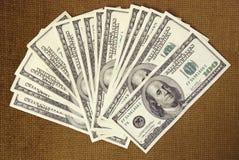 δολάριο εκατό σημειώσει Στοκ εικόνα με δικαίωμα ελεύθερης χρήσης