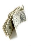 δολάριο λογαριασμών ένα Στοκ φωτογραφία με δικαίωμα ελεύθερης χρήσης