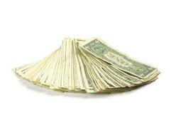 δολάριο λογαριασμών ένα Στοκ Φωτογραφία