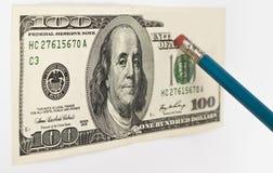 δολάριο που σβήνει εκα&tau Στοκ Εικόνες