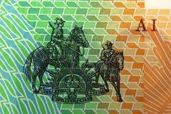 Δολάριο της Αυστραλίας, τραπεζογραμμάτιο της Αυστραλίας Στοκ φωτογραφία με δικαίωμα ελεύθερης χρήσης